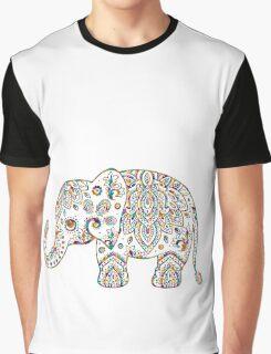 Colorful Paisley Elephant Graphic T-Shirt