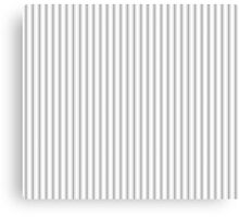 Mattress Ticking Narrow Striped Pattern in Charcoal Grey and White Canvas Print