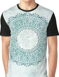 Wreath of Flowers in turquoise and icy blue Graphic T-Shirt