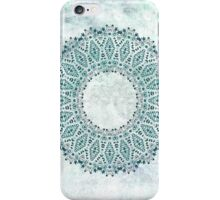 Wreath of Flowers in turquoise and icy blue iPhone Case/Skin