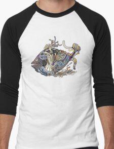 Dragon Fish in Water Men's Baseball ¾ T-Shirt