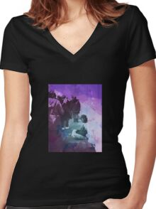 The Lonely Man Women's Fitted V-Neck T-Shirt