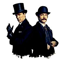 Victorian Holmes and Watson Photographic Print