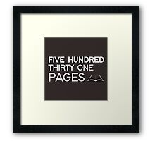 531 PAGES (white) - LDStreetwear Framed Print