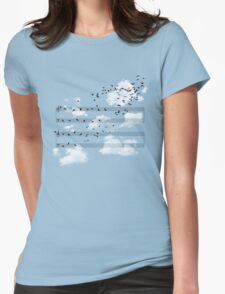 The Musical Notes Womens Fitted T-Shirt