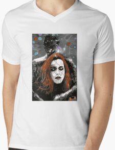 """Illustration for """"Wallflowers."""" Mens V-Neck T-Shirt"""