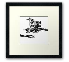 I AM the FORCE ! Framed Print