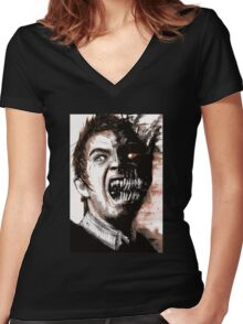 Frontspiece Illustration from Dark Tales from Elder Regions Women's Fitted V-Neck T-Shirt
