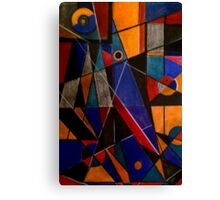 Red, blue and yellow structures Canvas Print