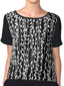 Willow Leaves (black ver.) Chiffon Top