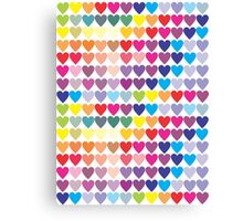 All the Hearts Canvas Print