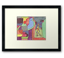 City and Eiffel Tower (2014) Framed Print