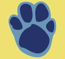 Blue's Paw Print Pattern One Piece - Short Sleeve