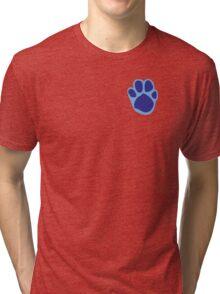 Blue's Paw Print Pattern Tri-blend T-Shirt