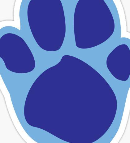 Blue's Paw Print Pattern Sticker