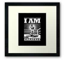 The definitive Greatest of ALL TIME! Framed Print