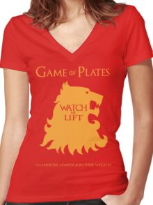 Game of Plates Women's Fitted V-Neck T-Shirt