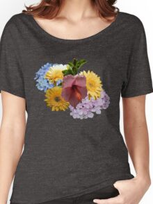 Fantastic Flowers Motif Women's Relaxed Fit T-Shirt