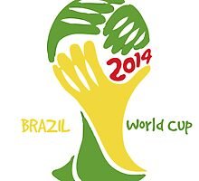 FIFA World Cup Logo Brazil 2014 with text by JoAnnFineArt