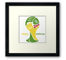 FIFA World Cup Logo Brazil 2014 with text Framed Print