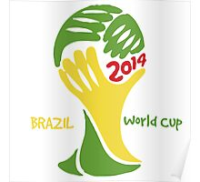 FIFA World Cup Logo Brazil 2014 with text Poster