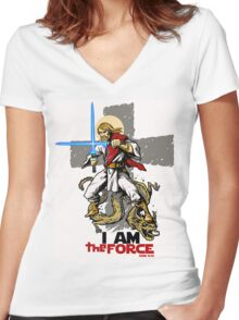 The FORCE itself. Women's Fitted V-Neck T-Shirt
