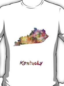 Kentucky US state in watercolor T-Shirt