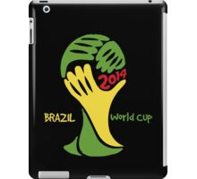 FIFA World Cup Logo Brazil 2014 with text iPad Case/Skin