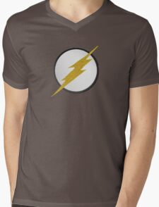 Flash Patch Mens V-Neck T-Shirt