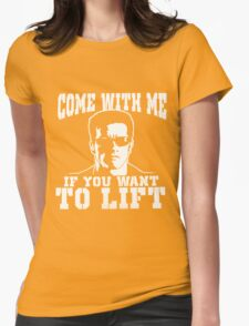 come with me Womens Fitted T-Shirt