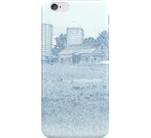 Barn in Blue iPhone Case/Skin