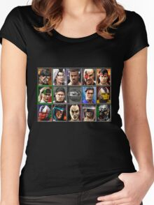 Mortal Kombat 3 Character Select Women's Fitted Scoop T-Shirt