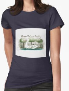 Swan Mother's Day Womens Fitted T-Shirt