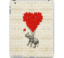 Elephant and love heart iPad Case/Skin