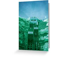 Infra-Red Cable Car II Greeting Card