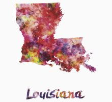Louisiana US state in watercolor Kids Clothes