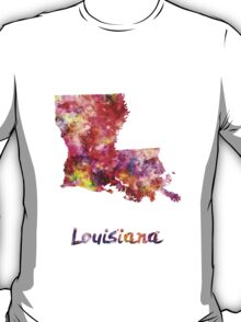 Louisiana US state in watercolor T-Shirt