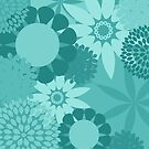 Turquoise Patterned Products by Vickie Emms