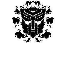 Autoblots (black) Photographic Print