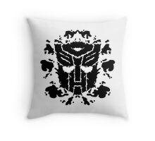 Autoblots (black) Throw Pillow