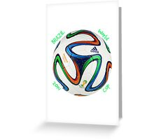 2014 FIFA World Cup Brazil match ball text Greeting Card