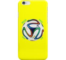 2014 FIFA World Cup Brazil match ball text iPhone Case/Skin