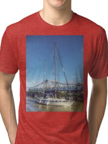 Reedham Swing Bridge and Jo-lene Tri-blend T-Shirt