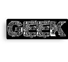 Geeks Tee Canvas Print