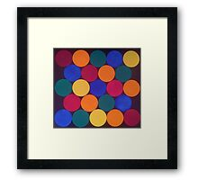 Spots and Coloured Dots Framed Print