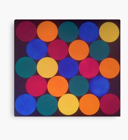 Spots and Coloured Dots Canvas Print