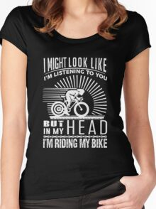 I'm Riding My Bike Women's Fitted Scoop T-Shirt