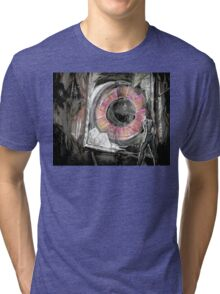 """Cover Art for """"The Friendly Horror & Other Weird Tales"""" Tri-blend T-Shirt"""