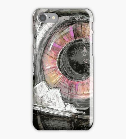 """Cover Art for """"The Friendly Horror & Other Weird Tales"""" iPhone Case/Skin"""