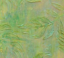 Stamped Textured Leaves Sticker